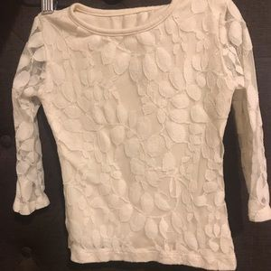 Persnickety lace long sleeve layering top 2T